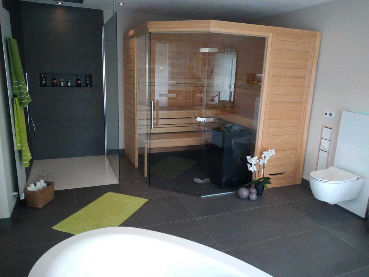 Badsanierung mit Sauna System   Klubert Bau